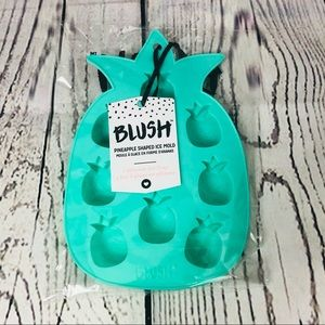 Blush Silicone Pineapple Shaped Ice Mold Tray New